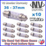 36mm 37mm INTERIOR LIGHT FESTOON BULB 6 LED 12v WHITE 239 272 NUMBER PLATE