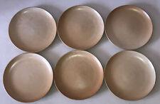 6 assiettes plates 24,5cm en Grès Village CNP France #1