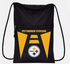 """NWT Pittsburgh Steelers NFL Backpack Back-Sack  15.5""""X 19"""""""