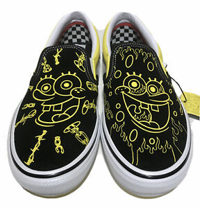 Vans Slip On Spongebob Graphic Mens Size 11 Black Yellow Gigliotti Limited Shoes