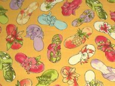Loralie Fun Flip Flops Fabric Sunshine 691-847-B by Loralie Harris BTY