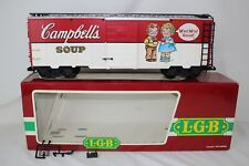 LGB G SCALE #41911 CAMPBELL'S SOUP BOX CAR, EXCELLENT, BOXED