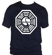 fm10 camiseta de hombre DHARMA LOST isla serie TV Fox CINE Y TV