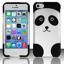For Apple iPhone 5C Rubberized HARD Protector Case Snap On Phone Cover Panda