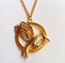 Hunger Games 2 Catching Fire Bird Necklace Pendant  Katniss Gold NEW DESIGN