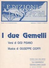 I Due Gemelli, di Pisano e Cioffi - Spartito Per Canto, Chitarra o Fisarmonica