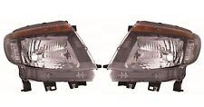 Ford Ranger 2011-2016 Black Front Headlight Headlamp Pair Left & Right