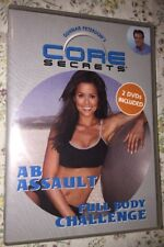 Gunnar Peterson's Core Secrets 2 Workout DVD's  AB Assault & Full Body Challenge