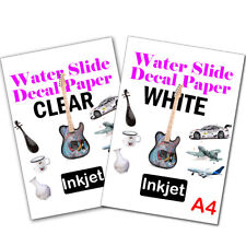 Clear Water Slide Decal Paper A4 Inkjet Waterslide Transfer Paper –10 Sheets