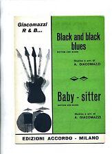 BLACK AND BLACK BLUES-BABY-SITTER# Spartito Accordo# Giacomazzi Rhythm and Blues