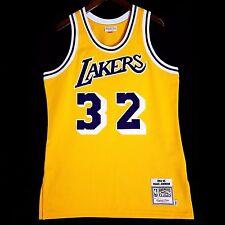 100% Authentic Magic Johnson Mitchell Ness NBA Lakers Gold Jersey 44 L - kobe