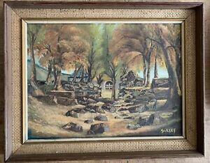 Gougane Barra Ireland signed s Jeff Oil on canvas