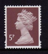 GB 1993 Machin Definitive 5p dull red brown SG Y1670 MNH