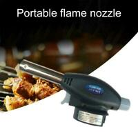 1*Blow Torch Butane Gas Flamethrower Burner Welding Soldering BBQ Ignition Y5S7