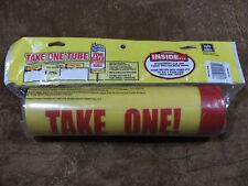 "Hy-Ko 3"" x 12"" Take One Tube - Weatherproof - Advertise 24 hours a day #22130"