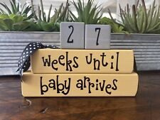 Pregnancy Countdown Weeks Until Baby Blocks Announcements
