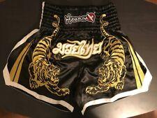Hayabusa Muay Thai Shorts - Black/Gold Small (30) - Free Shipping