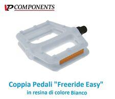 0655 - Coppia Pedali VP-Comp. Freeride Easy Bianco per Bici 26-28 Fixed Scatto F