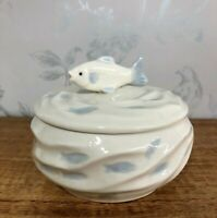 Carp Fish Shoal Design Nautical Sugar Bowl | Trinket Pot 54292