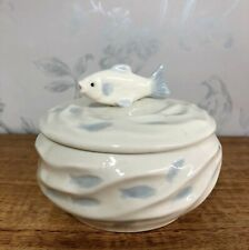 Carp Fish Shoal Design Nautical Sugar Bowl | Trinket Pot 54292