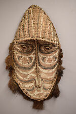 Papua New Guinea Gable Mask Woven Rattan Kangingara Village Black Water Lakes
