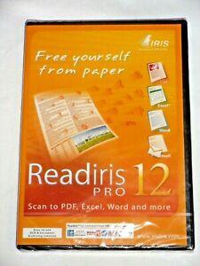 Readiris Pro 12 Scan to PDF Excel Word & more - PC - SEALED