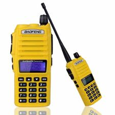 BaoFeng UV-82 Tri-Power 8W 4W 1W Hi/Mid/Low Dual-Band 2-PTT Two Way Radio Yellow