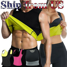 Man's & Women's Sauna Sweat Slimming Vest Neoprene Gym Yoga Body Shaper Top US