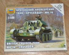 ZVEZDA 1/100 WWII BRITISH MK IV CRUSADER CRUISER TANK