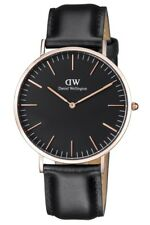 New Daniel Wellington Classic Sheffield Black Dial Leather Mens Watch DW00100127