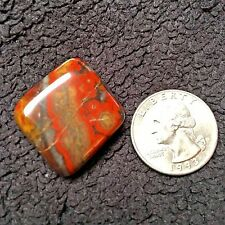 Morgan Hill Poppy Jasper Polished Free Form Cabochon / Pendant 12.3 grams