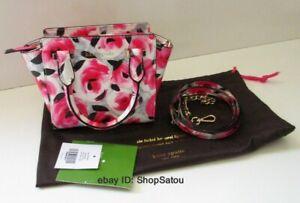 NWT KATE SPADE Cedar Street Mini Hayden Red ROSE POSY Crossbody Handbag