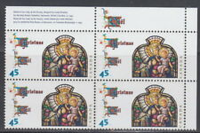 CANADA #1669 45¢ Christmas Madonna and Child UR Plate Block MNH