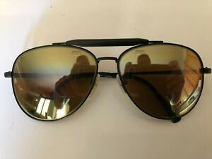 Vintage Nikon NK 4921-5 Black Metal Navigator Outdoorsman Aviator Sunglasses