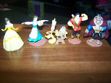 Disney's Beauty and the Beast Figures Lot of 5 Belle Gaston Beast Cogsworth