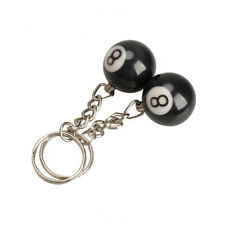 2Pcs NO.8 Keychain Billiard Pool Keychain Snooker Table Ball Key Ring Gift Lucky
