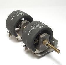 Rosenthal Doppel-Draht-Potentiometer / Tandem-Rheostat, 2x P40, 5 + 10 kOhm, NOS