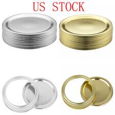 10 Split-Type Lids Sealing Storage Solid Caps for Regular/Wide Mouth Mason Jar