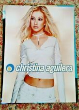 Christina Aguilera Vintage Record Store Promo Poster Never Used 2 Sides!
