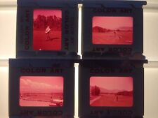 Lot of 4 Vintage 40s 50s Mid Century Man Playing Golf Photograph Color Slides