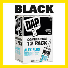 12 PACK - Dap 10.1-oz Alex Plus Acrylic Latex Caulk Plus Silicone BLACK