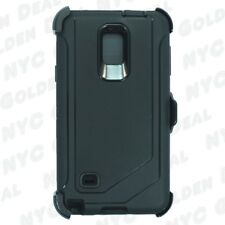 Black For Samsung Galaxy Note 4 Defender Case with Clip fits Otterbox