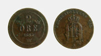 pci6167) SVEZIA SWEDEN SVERIGE  -  2 ore 1883