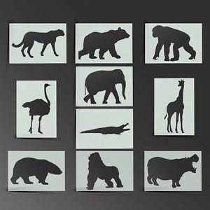 Animal Stencil Lion Tiger Mylar Sheet Painting Wall Craft Airbrush 190 Micron