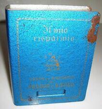 Vecchio salvadanaio in metallo a libro CASSA DI RISPARMIO di PD e RO