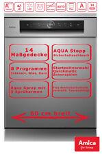 Amica Geschirrspüler 60cm Edelstahl unterbaufähig Aqua Stopp Touch Display