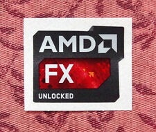 AMD Unlocked FX Sticker 18 x 21.5mm Case Badge Bulldozer Piledriver New Version