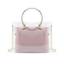 Womens Mini Clutch Satchel Chain Sling Shoulder Bag Transparent Square Handbags