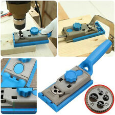Pocket Hole Drill Guide Dowel Jig Step Drill Bit Kit Woodworking Joint Cutter