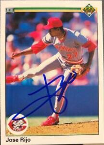 Jose Rijo Autographed 1990 Upper Deck #216
